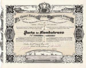 Channel Tubular Railway, Gründeranteil aus dem Jahr 1892: Vorläufer des Eurotunnels