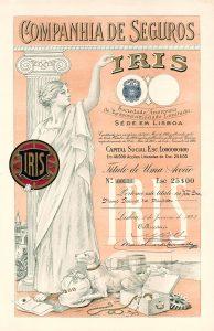 Compania de Seguros IRIS, Lissabon, Aktie von 1923 der 1922 gegründeten Versicherungsgesellschaft