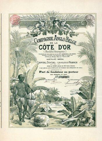Cie. Anglo Belge de la Cote d'Or, Gründeranteil von 1899