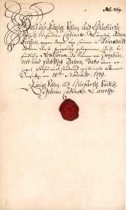 Königlich Pohlnische und Churfürstl. Sächs. Geheime Cabinets-Canzley, Dresden, Zwangsanleihe 250 Taler von 1749. Die Zwangsanleihen wurden den reichen Kaufleuten aufgebürdet. Eine Tilgung war nicht vorgesehen, allerdings konnten die Gerupften mit Steuervorteilen rechnen. August III., als Friedrich August II. Kurfürst von Sachsen, wurde 1733 zum polnischen König gewählt.