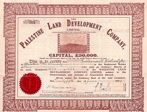 Palestine Land Development Company, Aktie von 1909