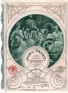 Paris-France S.A., Anleihe von 1930: gestaltet von Alfons Maria Mucha