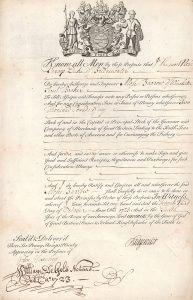 South Sea Company, Anteil über 2.000 £ aus dem Jahr 1723