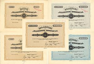 Maawirim Transport AG, Wien, 5 Aktien von 1922-1923 + DIE JUDEN KOMMEN NACH PALÄSTINA