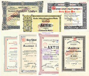 Sammlung Historischer Wertpapiere Deutschland 1886-1957 AUCH SELTENHEITEN DABEI!
