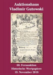 Gutowski stellt vor: Auktion Historischer Wertpapiere am 19. November 2018