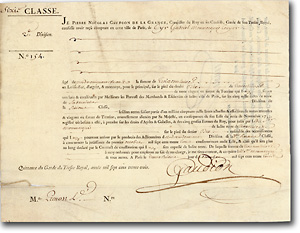 Königreich Frankreich, 30 Livres Staatsanleihe von 1733 + DRUCK AUF TIERHAUT! Zur Finanzierung des Polnischen Thronfolgekrieges