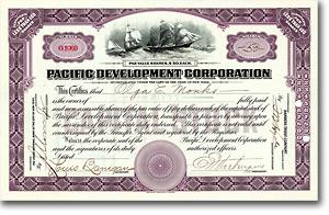 Pacific Development Corp., New York, Aktie von 1919 + SEHR SELTENE EMISSION!
