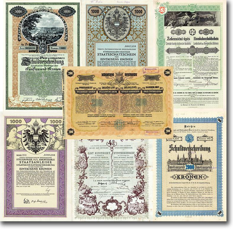 Sammlung: K.u.k.-Monarchie 58 historische Aktien + Anleihen 1859-1927 FUNDGRUBE!