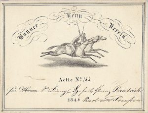 Bonner Renn-Verein, Bonn, Aktie von 1846