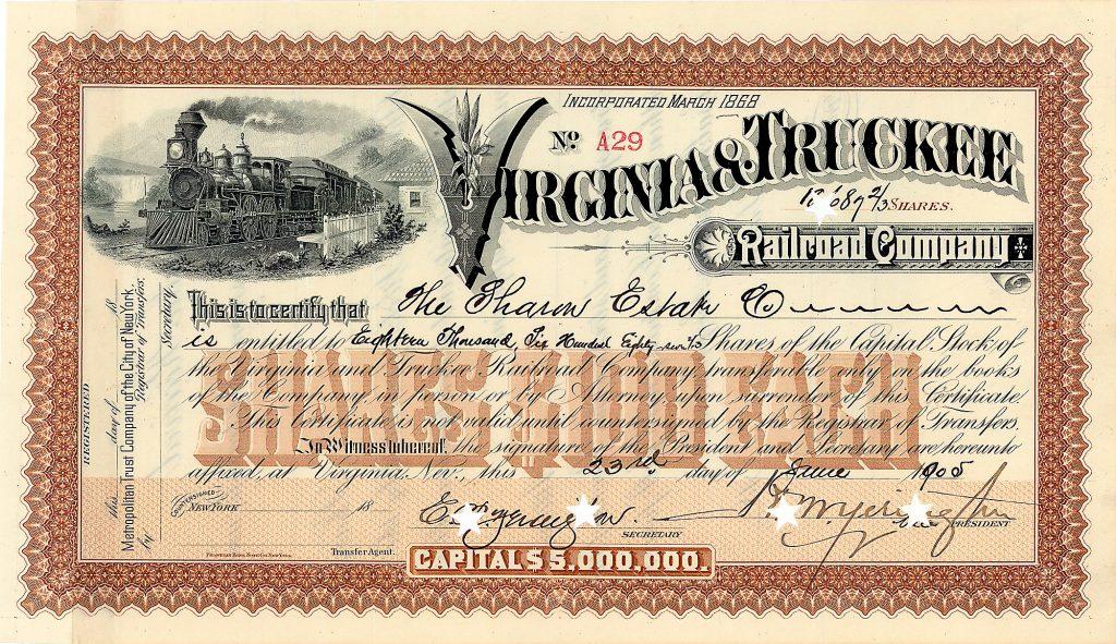 Virginia & Truckee Railroad Company Virginia, Nevada